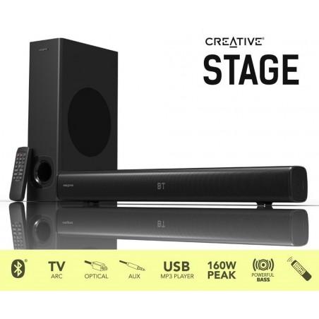 Creative Stage, 160W, 2.1, čierne - reproduktory